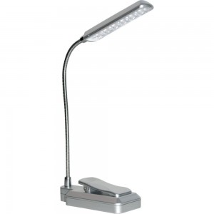 Light Accents - Extra Bright Clip-On Book Light With Dimmer - Reading Light - Kindle Book Light - Ultra Bright LED Light - Adjustable - Flexible - Gooseneck Light - (Silver)
