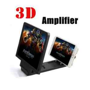 Mobile Phone Screen Amplifier, Huijukon Portable 3D Enlarged Screen Mobile Phone Folding HD Amplifier Bracket Stand for Smartphone Galaxy S6 S6 Edge iPhone 5 5S 6 6 Plus (Black)