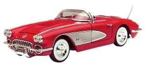 Motormax 118 Die-Cast 1958 Corvette (Colors May Vary)