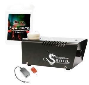 Mr. Dj DRAGON900 Fog Machine with Wired Remote Control and Scented Fog Juice