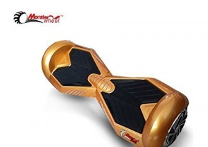 The Original Monster Wheel Intelligent Self Balancing Hoverboard with LED Lights - Gold with Black Pads (M3-GDBK)