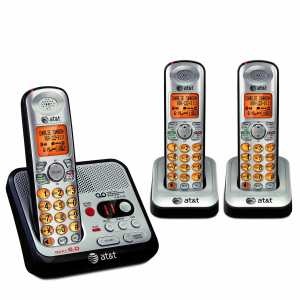 AT&T EL52300 DECT 6.0 Cordless Phone with Answering System and Caller IDCall Waiting, 3 Handsets, SilverBlack