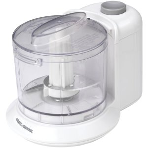 Black & Decker HC306 1-12-Cup One-Touch Electric Chopper, White