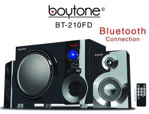 Boytone BT-210FD Wireless Bluetooth 30-Watt Speaker System with FM Radio and Remote Control