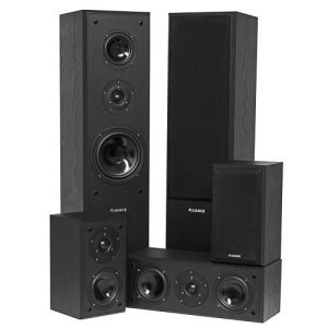 Fluance Surround Sound Home Theater 5 Speaker System Model AVHTB
