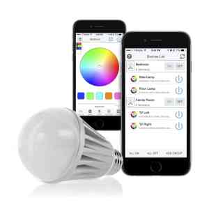 Flux Bluetooth Smart LED Light Bulb - Dimmable Color Changing Light Bulb for Apple iPhone, iPad and Android Phones