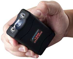 Monster SG-M18000BK-P Rechargeable Stun Gun with LED Flashlight