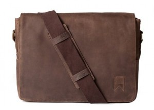 Navali Mainstay, Leather Laptop Messenger Bag