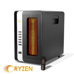 Ryzen H-5000 Pro Portable Infrared Quartz Heater w Remote 1500 Watts