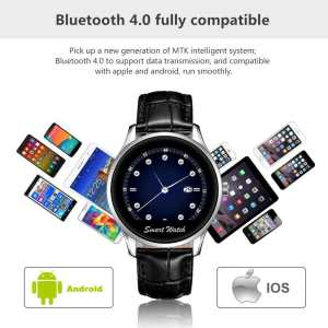 StarryBay Smart Watch 1.22 HD IPS Capacitive Touch Screen Writwatch with Voice Gesture Control for Dual Systems Android iPhone