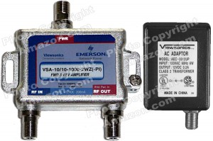 Viewsonics 1-Port Mini ACTIVE RETURN Cable TV HDTV Signal Booster  Amplifier (Retail Package) - VSA-1010-1000-2WZ(PI)