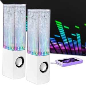 Merkury Innovations Rhythm Universal LED & Water Dancing Stereo Speakers