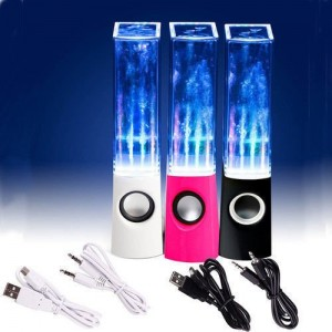 SUNYEE (TM) Plug And Play Multi-Colored Illuminated Dancing Water Speakers (SUNYEE Black)