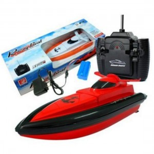SGS 2.4G Child High Speed Wireless Remote Control Simulation Boats RC Electric Boats Waterproof Toys Red