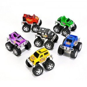 Small Toys Monster Pullback Trucks (Pack of 12)
