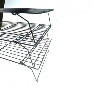 3-Tier Cooling Rack Stacks Stackable Wire Grade Chromed Steel Cooling Rack Set