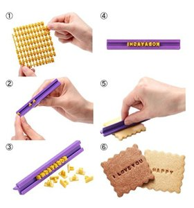 BLINKEEN® Letter Number Cookie Stamp for Cookie Decorations