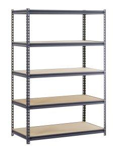 Edsal UR1848 Industrial Gray Heavy Duty Steel Boltless Shelving Storage Rack