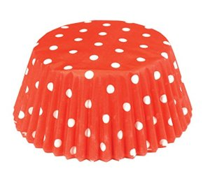 Fox Run Red Polka Dot Bake Cups, 50 Bake Cups