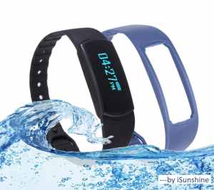 Touch Screen Waterproof Fitness Tracker Activity + Sleep Monitor Bracelet Watch by iSunshine™, Compatible with iPhoneiPad IOS 7.0+ and Android Phonetablet 4.3+