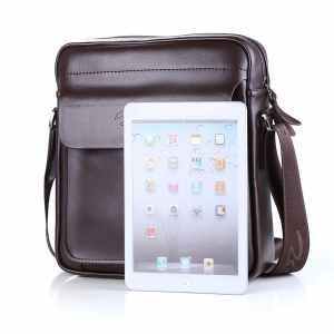 Zicac Mens Genuine Leather Cross Body Handbag Shoulder Messenger Bag