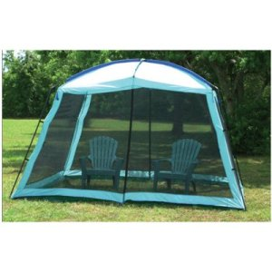 Camping Screen Room Full Enclosure Canopy Shade Gazebo with Dome Top Outdoor Screen Room (12' x 9' x 8')
