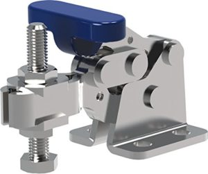 Clamp-Rite 16051CR-SS (DSC 305-USS) Stainless Steel Horizontal Hold-Down Clamp, U-Bar, Flanged Base, 200 lb Holding Capacity