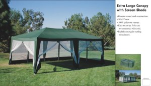 Deluxe Party Tent- 20'x12' Hunter Green