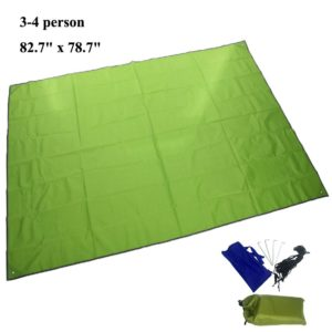 JTENG 82.7 x 78.7 inch Outdoor Waterproof Sunproof C&ing Shelter Tent Tarp Footprint Groundsheet Blanket Mat  sc 1 st  Top Portal Review : best tent footprint - afamca.org