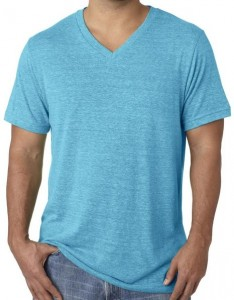 Yoga Clothing For You Mens Tri Blend V-neck Tee Shirt