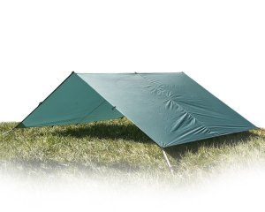 Aqua Quest Guide Sil Tarp - 100% Waterproof & Ultralight RipStop Nylon Material - 13 x 10 ft Large - Compact, Versatile, Durable Backpacking Tarpaulin