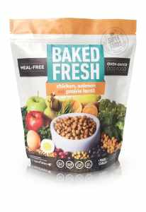 Baked Fresh Dry Dog Food, Meal and Grain Free, All Stages, Chicken Salmon and Prairie Lentil Recipe, 2 LB