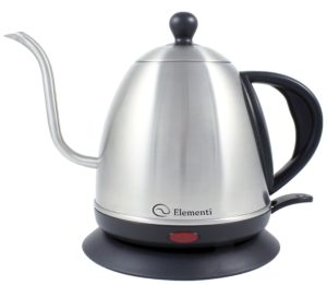 Elementi Stainless Steel Electric Kettle for Pour Over Coffee and Tea