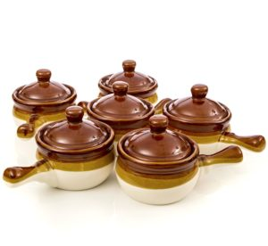 Gibson French Onion Soup Crock Bowls with Handles