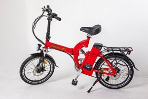 Greenbike USA Electric Motor Power Bicycle Lithium Battery Folding Bike - FULL SUSPENSION