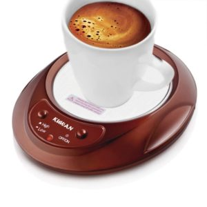 KUWAN Coffee Warmer Desktop Beverage Warmer Electric Mug Cup Warmer Tea Milk for Office Home 110V 11W (Coffee)