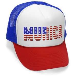 MeanGear - Murica Fourth of July USA - Retro Vintage Style Trucker Hat Cap