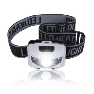Noza Tec Led Headlamp Flashlight, CREE XPE with 2 Red LED, Powered by Batteries,