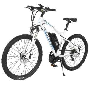 Onway 26 Inch 9 Speed Electric Mountain Bike, 8-Fun 350W Brushless Mid-position Motor, Lithium Battery