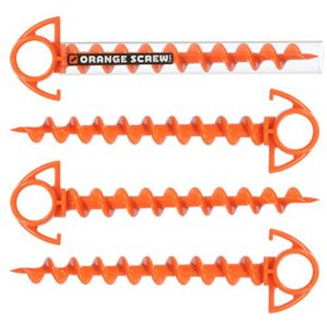 Orange Screw The Ultimate Ground Anchor, SMALL - 4 Pack