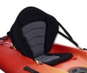 Pactrade Marine Adjustable Padded Deluxe Kayak Seat Detachable Back BackpackBag Canoe Backrest