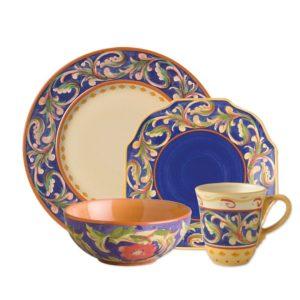 Pfaltzgraff Villa Della Luna Blue 32-Piece Dinnerware Set with Serveware, Service for 8