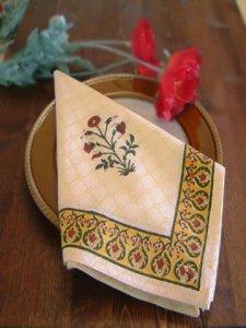 Red Poppy ~ Elegant Floral Cotton Dinner Table Napkins
