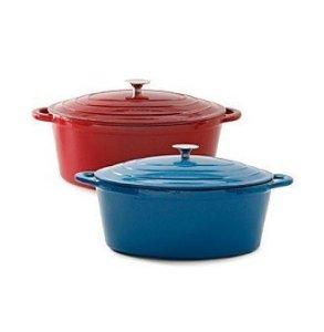 Ruff Hewn 3-qt Cast-iron Casserole Pan Cobalt Blue