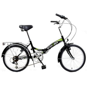 Stowabike 20 Folding City V2 Compact Foldable Bike - 6 Speed Shimano Gears Black