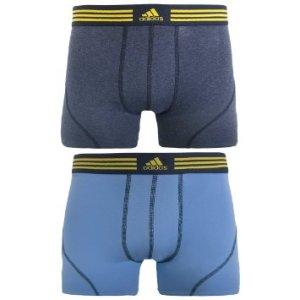 adidas Men's Athletic Stretch Cotton 2pk Trunk Underwear