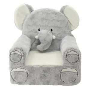 Animal Adventure 49228 Sweet Seats Plush Elephant Chair - Gray super comfy