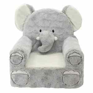 Animal Adventure 49228 Sweet Seats Plush Elephant Chair - Gray super comfy