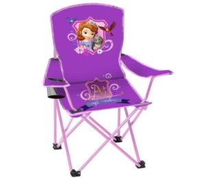 Disney Sofia the First Princess Folding Chair with Cup Holder and Carry Bag - Kids