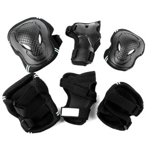Generic Multi Sports Safety Protection Adult and Kids Elbow Knee Wrist Protective Gear Pads Safety Gear Pad Guard for Cycling Soft and Comfortable